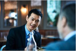 asian man meeting